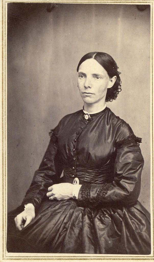 A Woman In Mourning Albumen Carte De VisiteCirca 1863