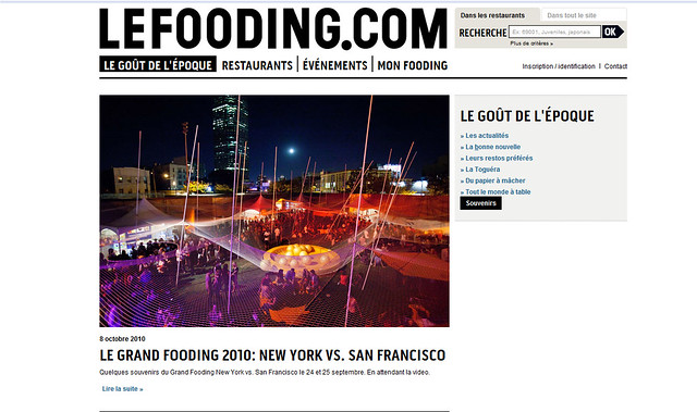Tearsheet: Le Fooding's site