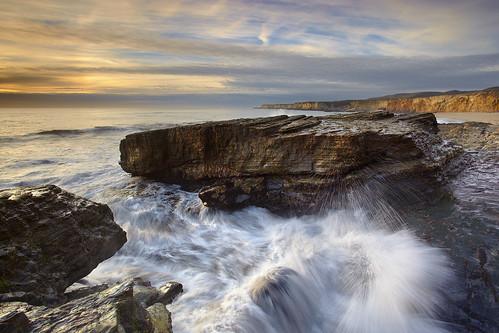 ocean sunset sea sky seascape beach rock landscape panther holeinthewall