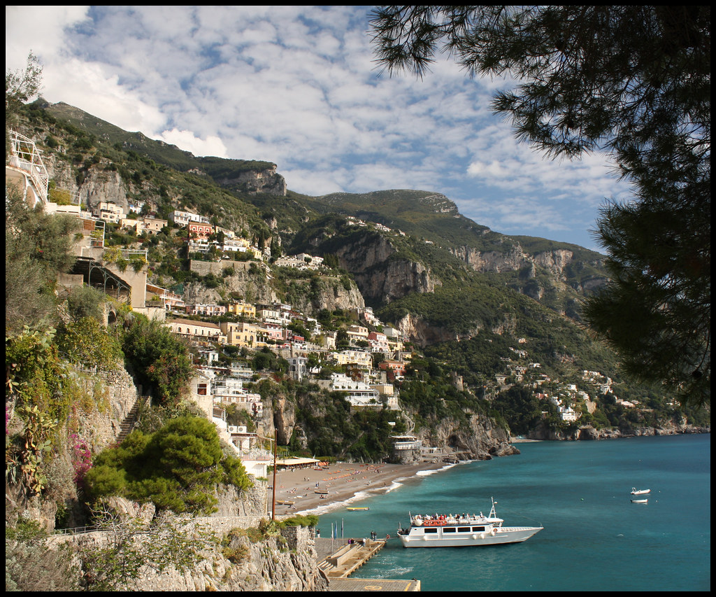 Positano from Via Positanesi d'America
