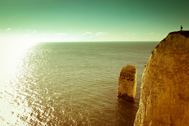 World's Edge (Old Harry Rocks), Dorset [Cross Processed]