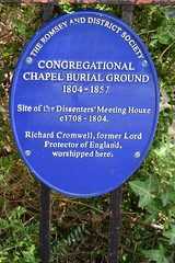 Photo of Richard Cromwell, Congregational Chapel Burial Ground, Romsey, and Dissenters' Meeting House blue plaque