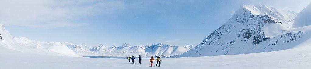 Skitouren Norwegen mit Schiff/Boot Spitzbergen. Foto: Birgit Gelder.