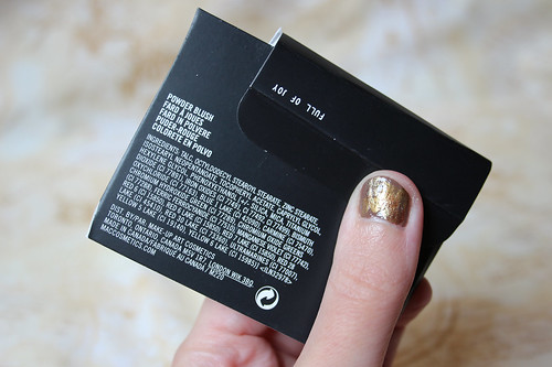 ingredients - M.A.C, blush in Full of Joy