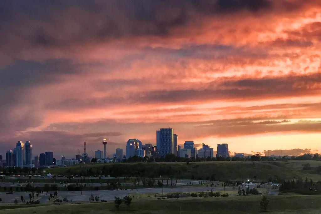 Sunset, Calgary, Alberta, Canada