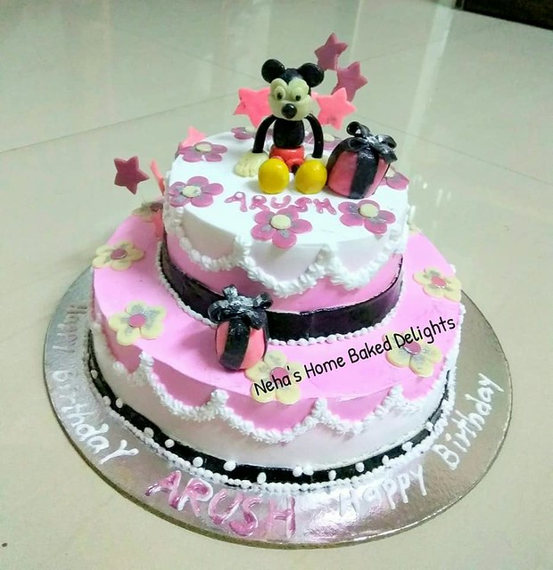 Mickey Mouse Themed Cake by Neha's Home Baked Delights