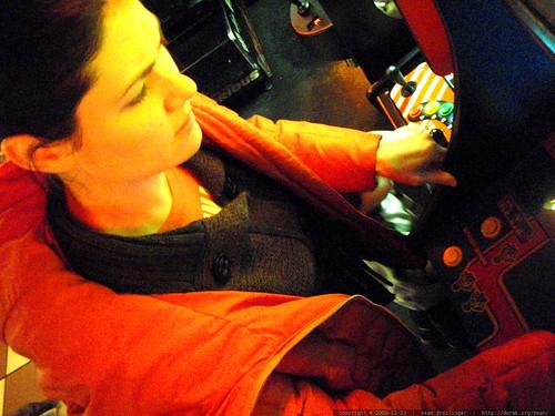 rachel gets her (ms) pacman on   PC020203