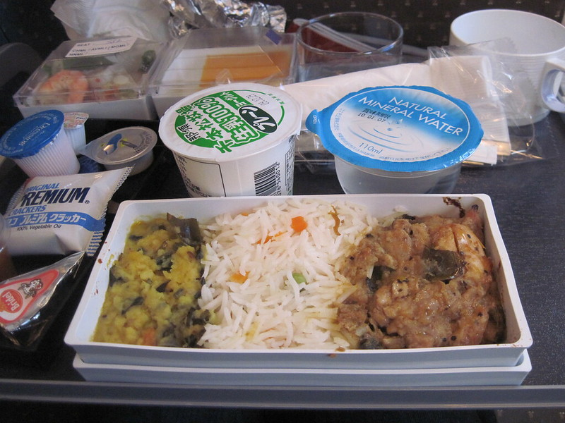 Singapore airlines lunch (muslim meal) from Tokyo to Singapore