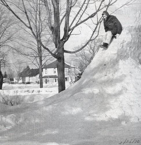 Rev Leslie Clemens on snow slide Feb70