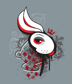 White Rabbit and Geometric Patterns Art