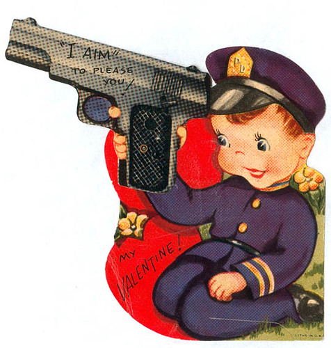 Vintage Valentine: Cop Aims To Please