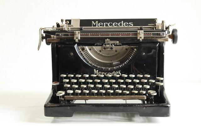 mercedes no 5 typewriter. Black Bedroom Furniture Sets. Home Design Ideas