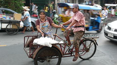 rickshaw, vehicle, mode of transport, cart,