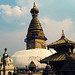 Walking around the Swayambhunath Stupa