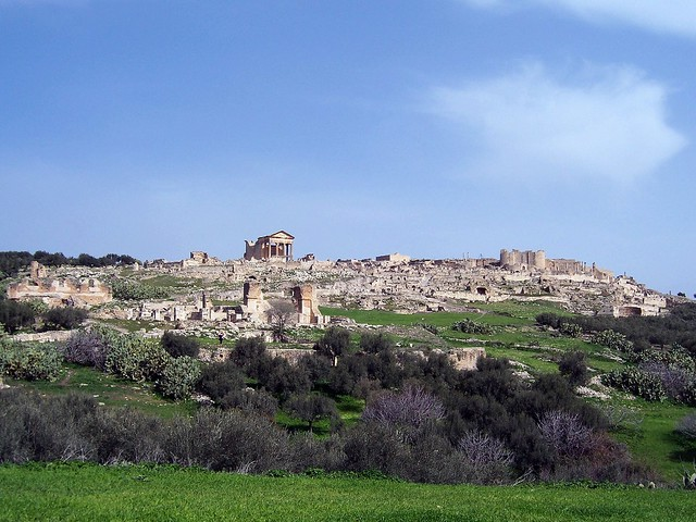 General view of Dougga, Tunisia