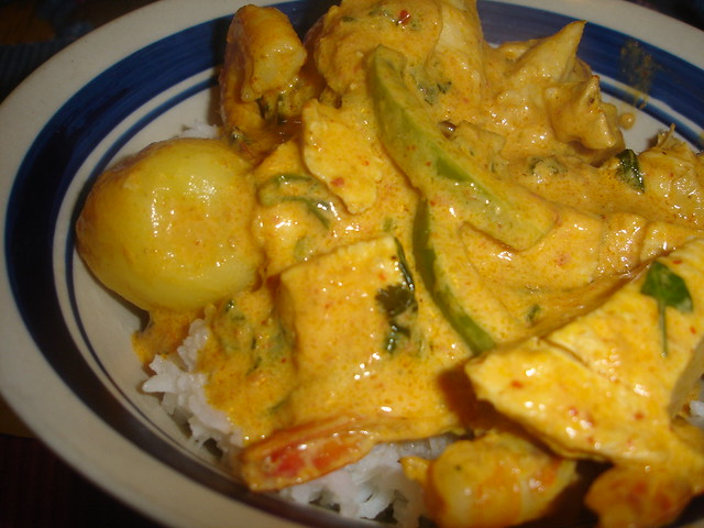 Panang Curry with Chicken and Shrimp | So I've been really i ...