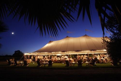 46x100 tent night