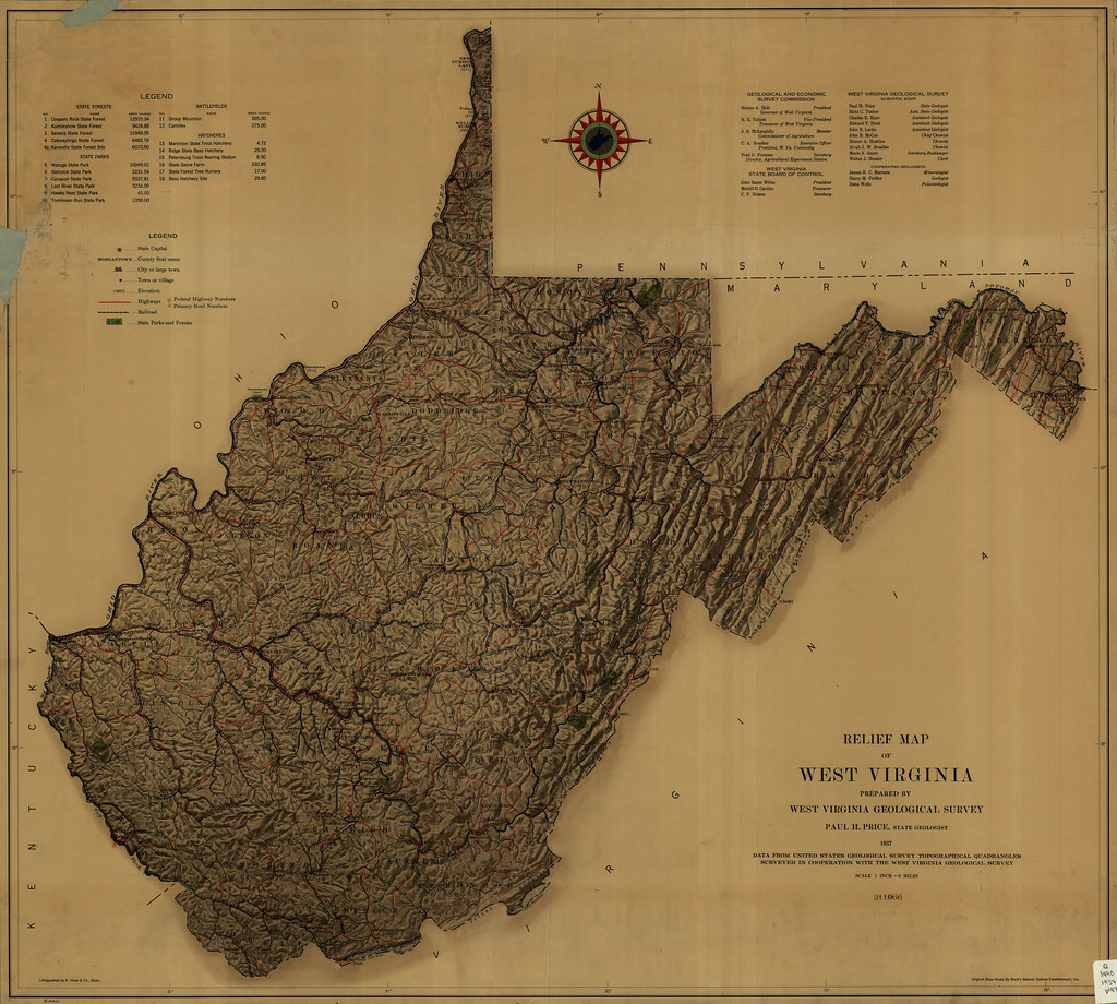 Relief Map Of Virginia.Relief Map Of West Virginia Prepared By West Virginia Geo Flickr
