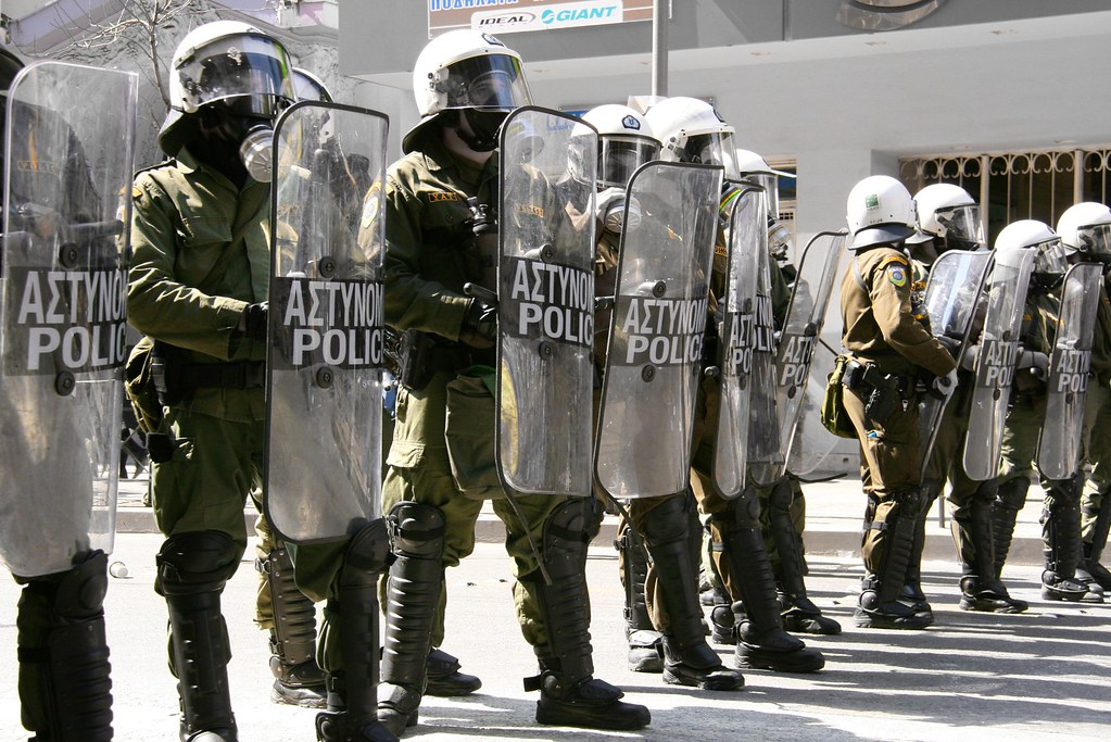 Greek Police in Riot Gear