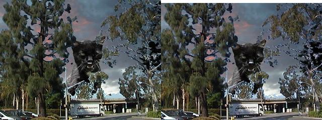Cerritos Auto Square >> 3d Giant Cat Guards Cerritos Auto Square Over The 605 Fre