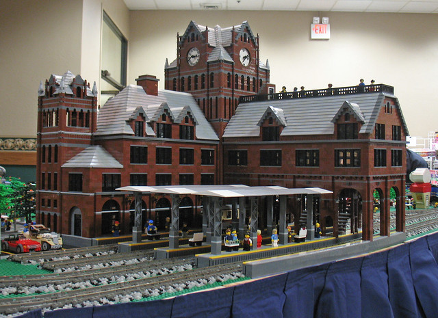 Union Depot replica at Toledo Train and Toy Show, March 14, 2010