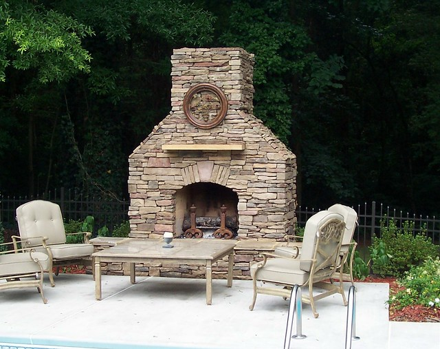Charlotte Outdoor Fireplace Flickr Photo Sharing