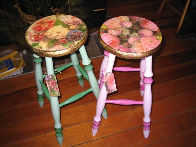 shabby chic stools flickr photo sharing. Black Bedroom Furniture Sets. Home Design Ideas