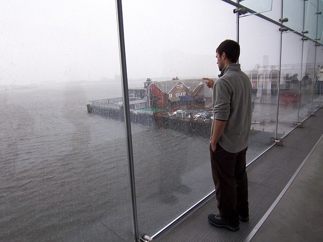 ian watching the storm