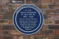 Photo of Harry Greenwood blue plaque