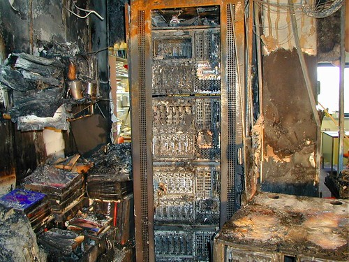 Parks Hall server room at Western Washington University (after a fire)