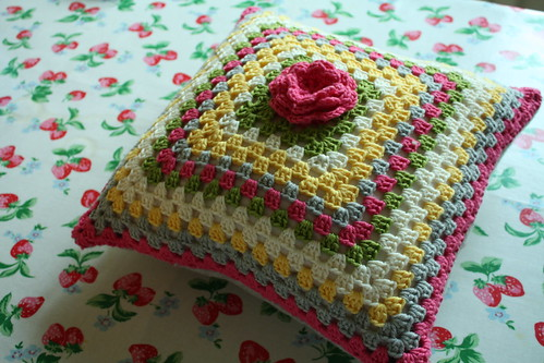 Granny flower cushion