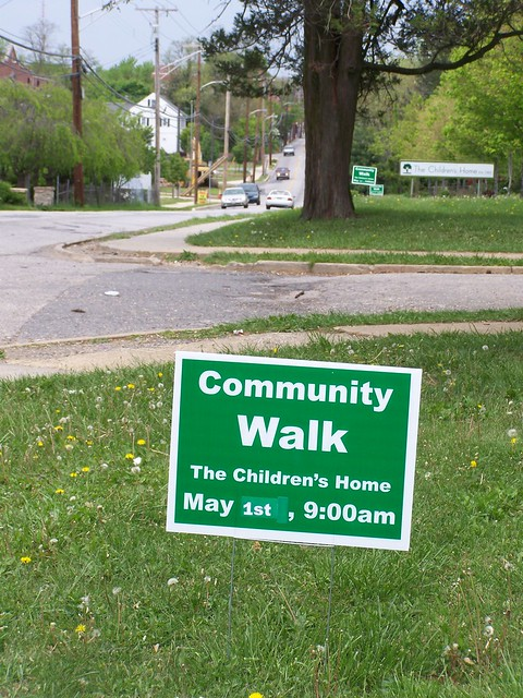 Community walk sign, Catonsville