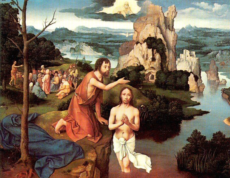 Paisaje con el Bautismo de Cristo