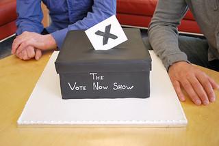Vote Now Show cake