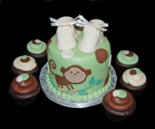 Simply sweets cake studio scottsdale phoenix az custom cakes cupcakes chocolates monkey - Baby shower cakes monkey theme ...
