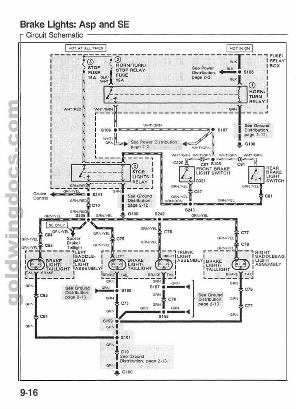 89 Gl1500 Brake Light Wiring Diagram