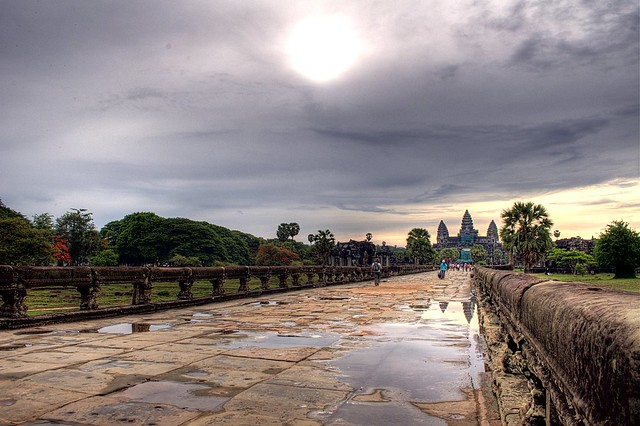 entering angkor wat
