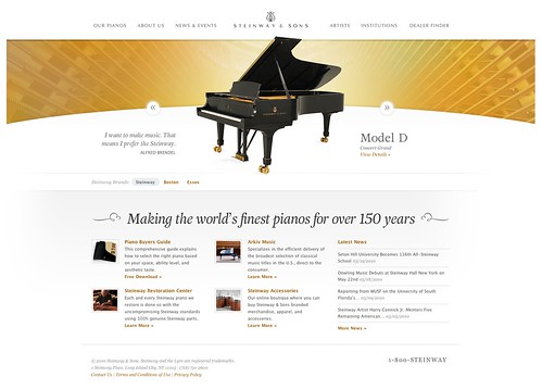 The Official Website of Steinway & Sons - Maker of the finest pianos in the world.