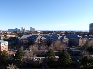 Image of Denver Tech Center. above windows roof buildings apartments view top parking lot denver ulster techcenter