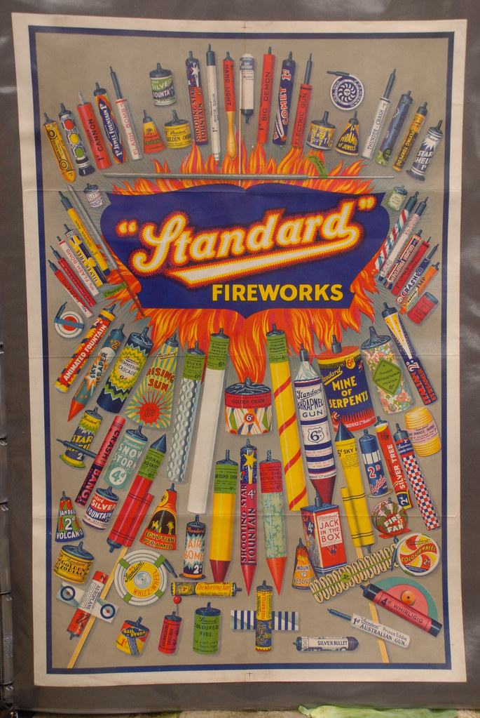 Standard Fireworks Colourful Art Poster