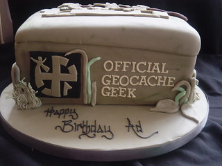 Geocache Birthday Cake