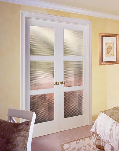 Feather River Door Wood Interior Doors Three Panel Reed In Painted Prime Advantage Double Door
