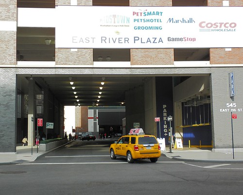 M283 East River Plaza Garage over Parking Entrance, East Harlem, New York City