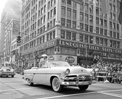 Seafair parade at 4th & Pike, 1954