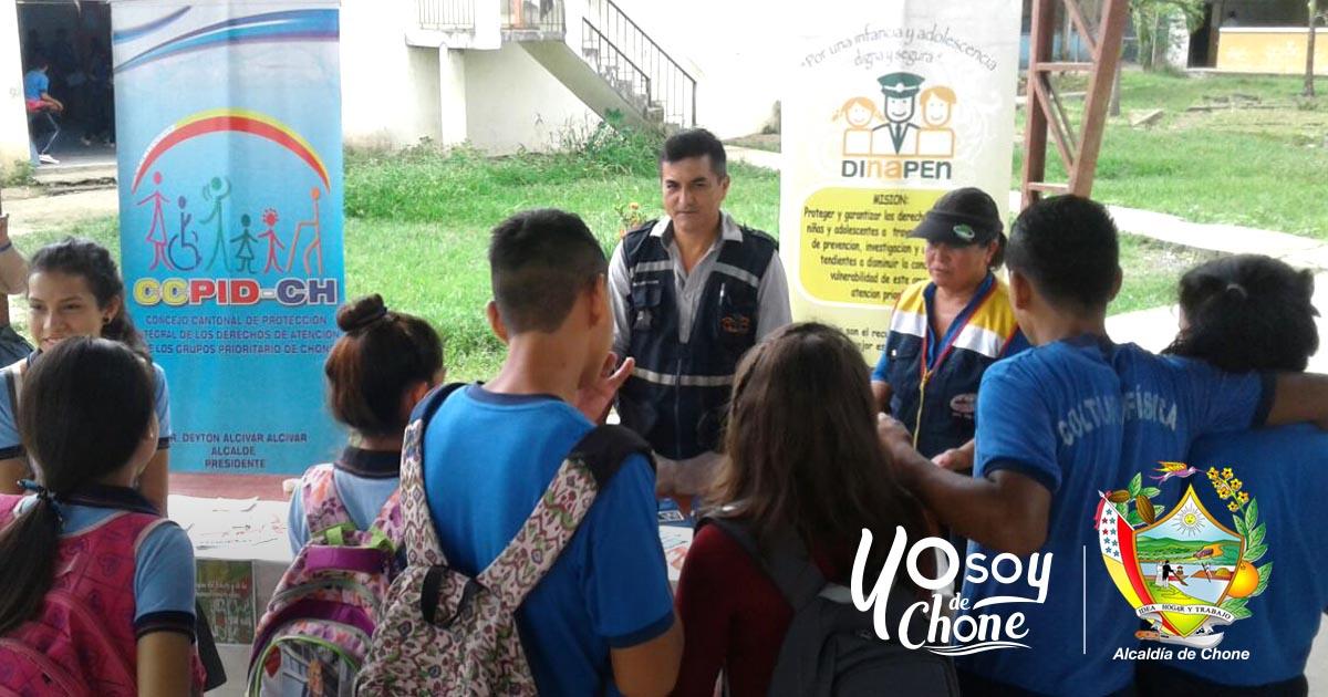 Alcaldía de Chone participó en día internacional del uso indebido de drogas
