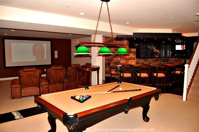 Small Pool Table Room
