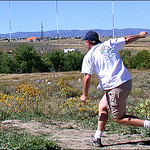 Mike Randolph during the long drive competition at 2003 Ace Race Lighthouse