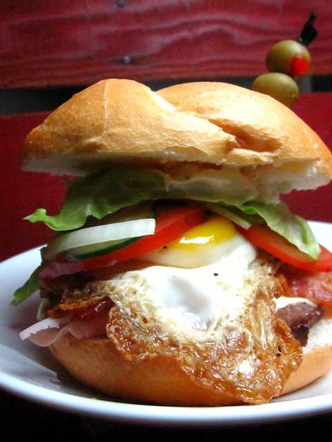 Chivito (Uruguayan Sandwich) and ensalada rusa | Flickr - Photo ...