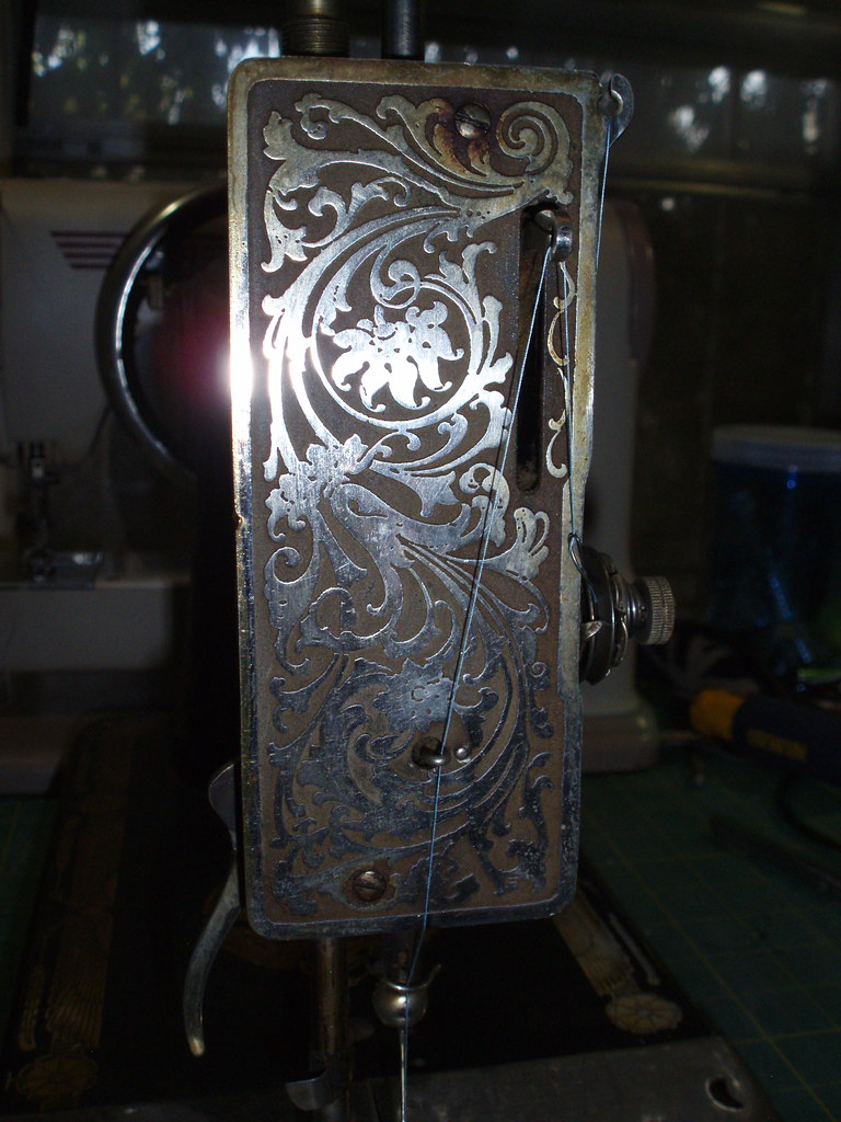 Franklin Treadle Sewing Machine End Plate