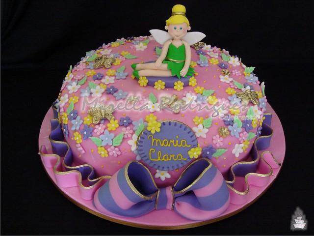 Bolo de aniversário da ''Sininho'' / Tinkerbell cake
